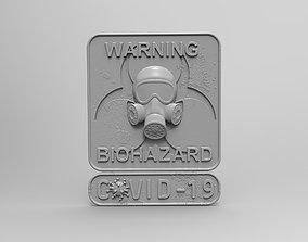 Biohazard Covid 3D printable model