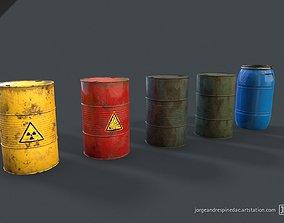 Barrels Pack - Vol 01 - Game Ready 3D asset