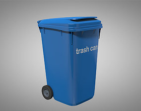 Trash Can animation ready with basic shaders 3D model