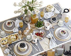 Breakfast tableware 3D