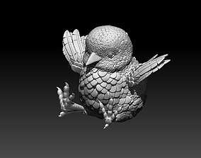 3D printable model beak chick