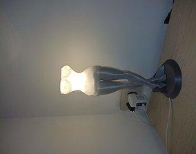 DressWoman bedside lamp 3D printable model