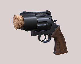 Plug pistol of Harley Quinn firearm 3D printable model