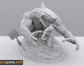Wave of Terror Flash vs King Shark fan 3D print model