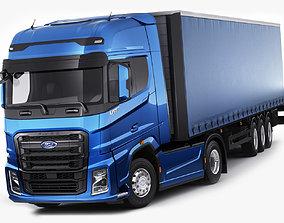3D model semi F-max 2019 truck with trailer