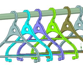 Clothes hanger 3D model 3D-print usufull in storager