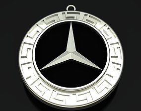 3D print model Mercedes Benz Style Golden Necklace