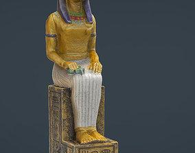 3D asset Egyptian Figure 1