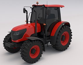 Tractor Red 3D