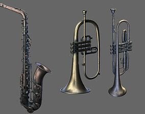 Wind Instruments 3 saxophone three wind 3D model