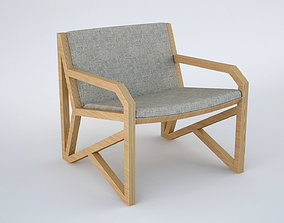 Ovo Armchair Poltrona Lateral Low Poly 3D asset
