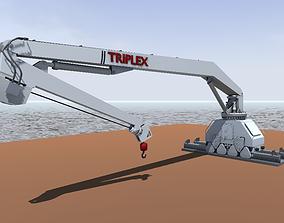 Macgregor Triplex cargo rail crane 3d model game-ready