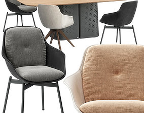 Rolf Benz 600 chair and 929 table 3D