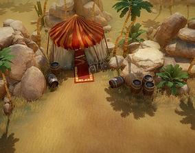3D asset Top-Down desert