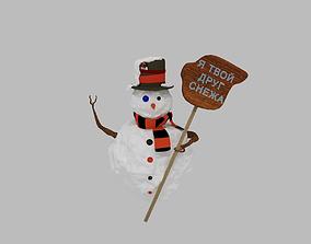 3D model friend Snowman