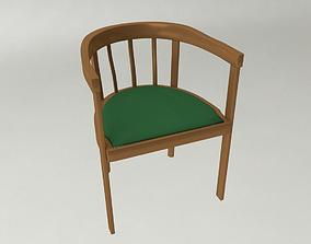 3D model 30s wooden chair