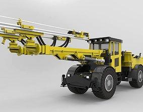 Atlas Copco boomer 3d model realtime