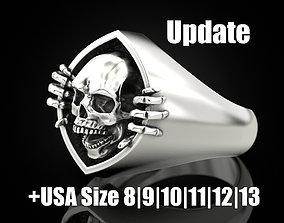 Skull and bone ring 2 Update 3D print model