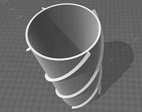 helicoidal flower pot 3D print model