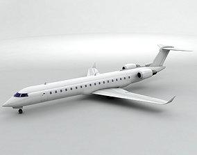 3D asset Bombardier CRJ 700 - Generic White