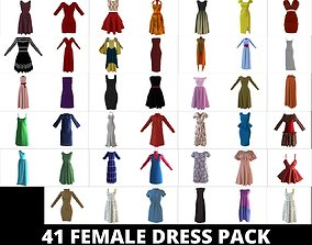 Collection of 41 female Dresses For Avatar AR VR 3D