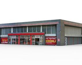 Super Market Building 1 3D asset