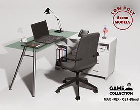 3D model low-poly Table Desk 3