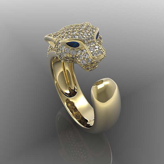 Ring panthere cartier yellow