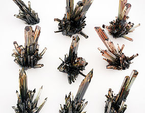 Crystal Quartz Mineral Pack 1 3D model