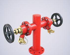 3D Fire Hydrant Double