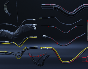 15-pipes and wires asset pack 3D