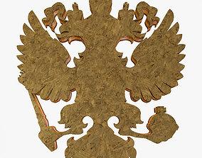 3D model Logo Russian Herb Eagles politic