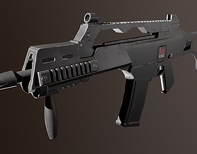 Heckler Koch G36C 3D asset game-ready