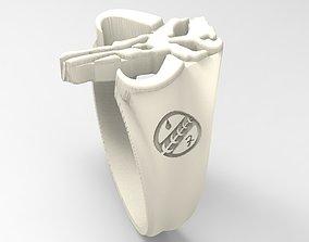 Mandalorian skull ring 3D printable model