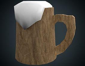 3D model wooden Tankard