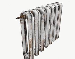 3D asset Rust Cast Iron Radiator