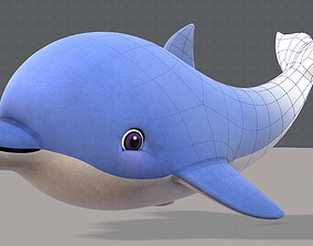 Dolphin V01 3D asset game-ready