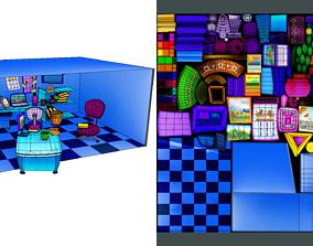 Cartoon Office Pack 3D model