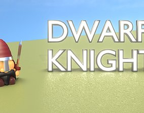 Gnome Dwarf Knight Character - Funny Little 3D model