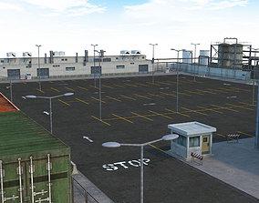 Factory Parking - Drift Scene 3D asset