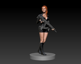 Gun Girl 3D print model