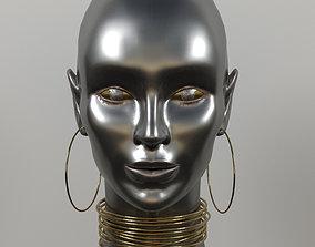 Women metal head model anatomy 3D
