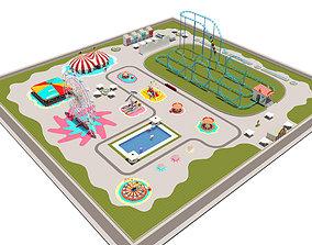 Amusement Park Equipment Full pack 3D