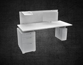 Office furniture workstation computer filing 3D model 2