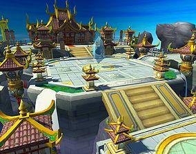 sky Temple 3D model realtime
