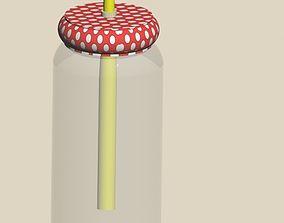 3D Jar with straw