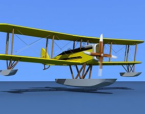 3D model Airco DH-4 V04 Bush Seaplane