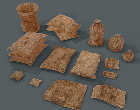 Burlap Sacks and Pieces Collection 3D
