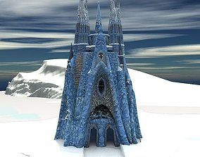 3D model Ice Castle for Unity