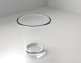 3D model Glass Cup 4 empty